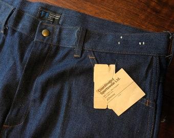 5545d14a17f 80's Deadstock Wide-Legged JC Penney Blue Jeans ||
