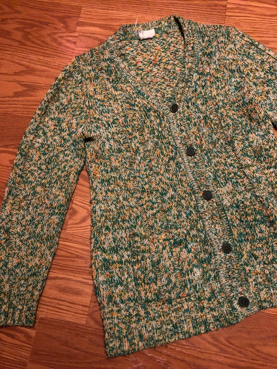 1960's Catalina Space Dyed Cardigan || Size Small