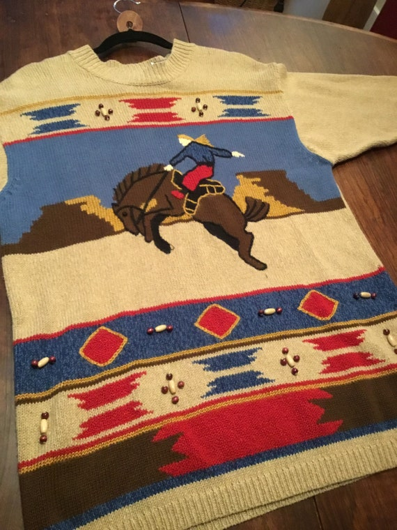 Rodeo sweater by Lizsport -Size S