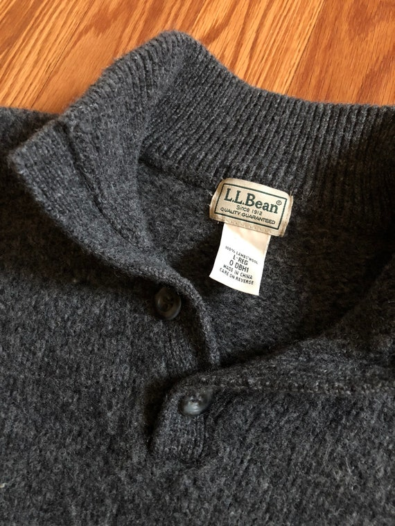 Vintage LL Bean Winter-weight Lambs Wool Sweater … - image 2