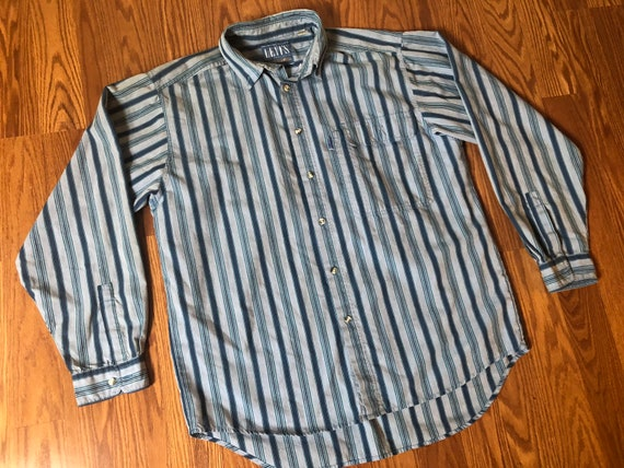 """80s Levis Shirt with """"Big E"""" tab    Large - image 2"""