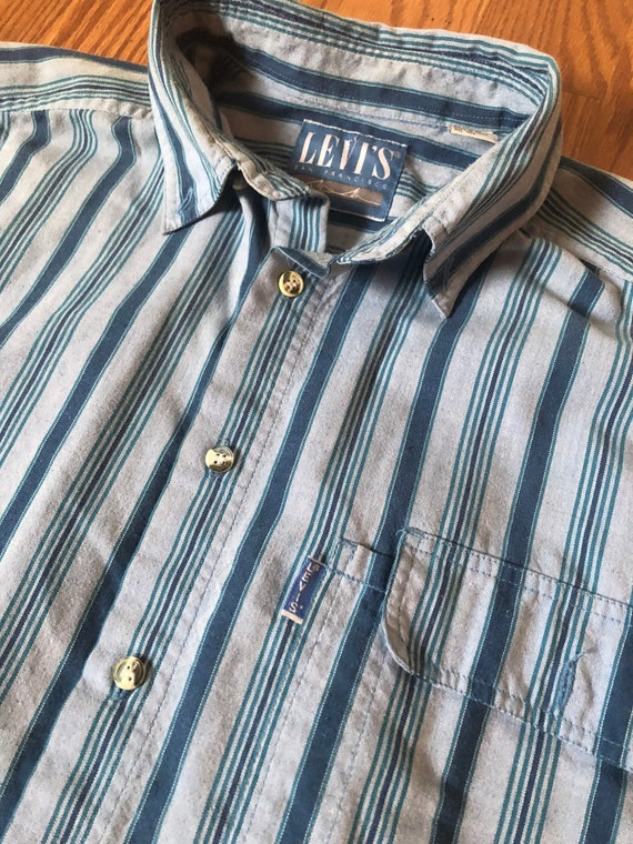"""80s Levis Shirt with """"Big E"""" tab    Large - image 1"""