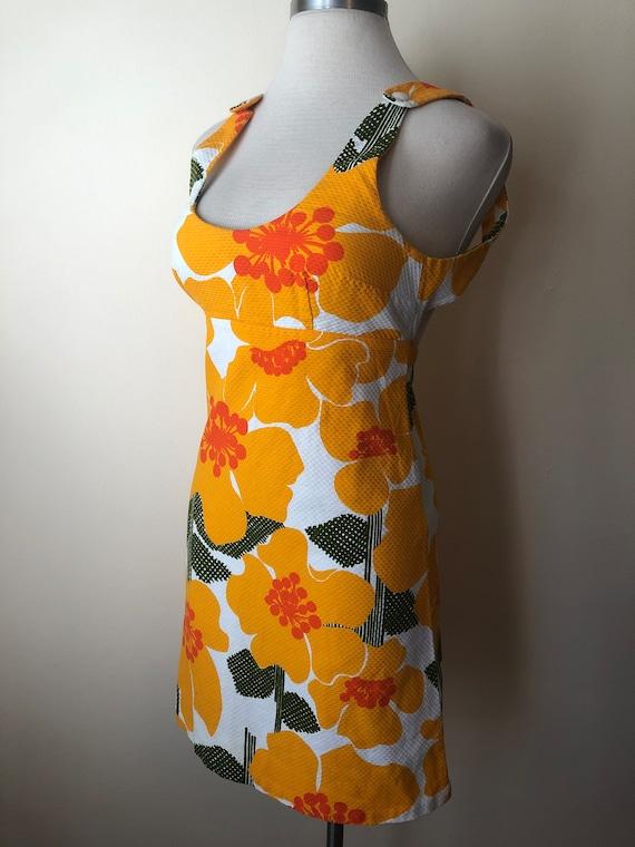 70s Hawaiian Beach Dress by MALIA || Size 12