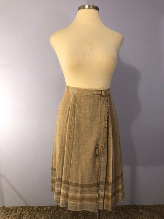 1980's does 1950's Wool Riding Skirt by Clyde || P