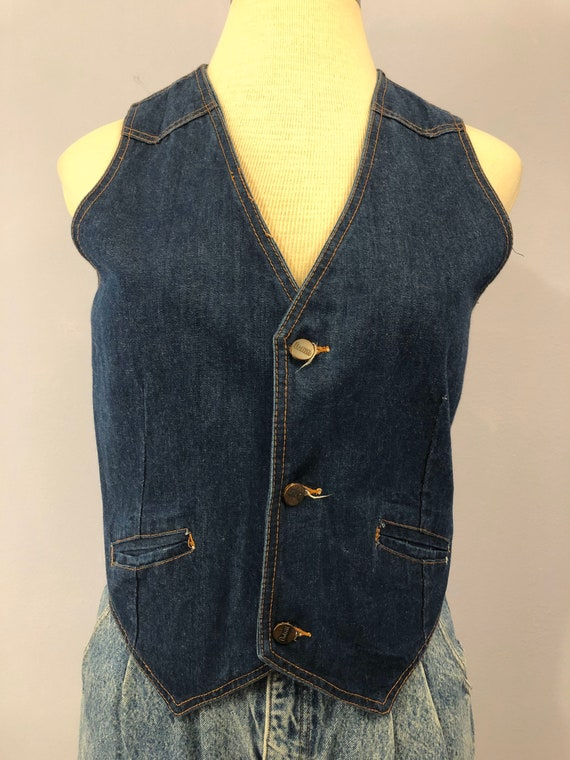 1980s does 1950s Western Denim Vest by St. Leger |