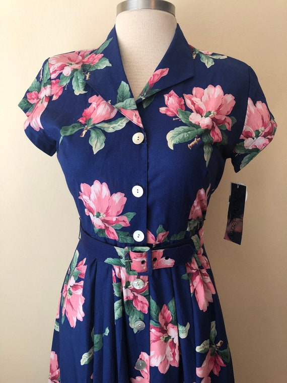 Deadstock 80s does 50s Summer Dress ||  Size 12