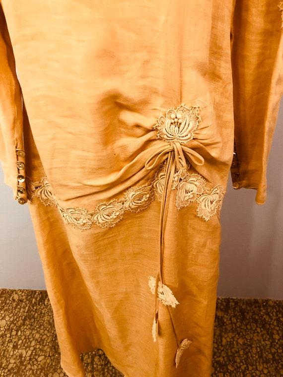 Pink Linen Drop Waist Dress with 20's Flair || Ga… - image 9