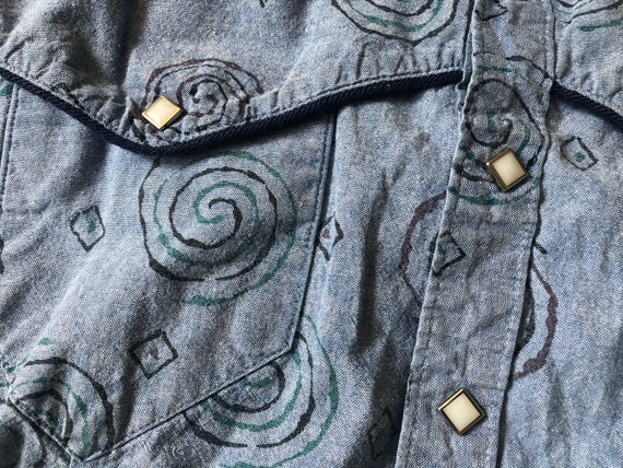 Rockmount Oversized Denim Western Shirt  ||  XL  |