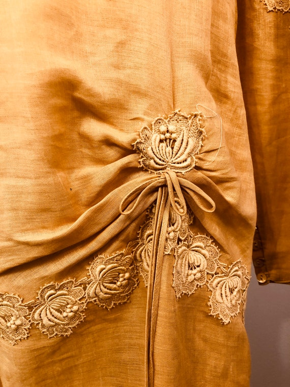 Pink Linen Drop Waist Dress with 20's Flair || Ga… - image 2