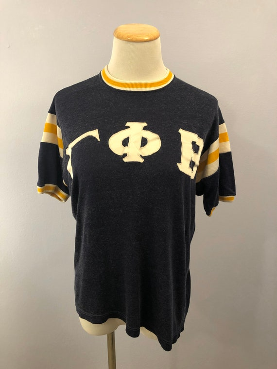 Rare 1950's Sorority Ringer T-Shirt by Russell Sou