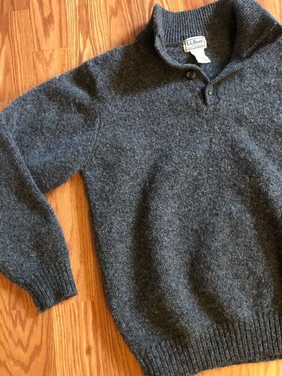 Vintage LL Bean Winter-weight Lambs Wool Sweater … - image 4