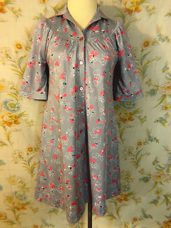 1960s Floral Duster House Dress || Size XL || Sustainable Clothing ||  Vintage Plus Size || Day Dress || Pajamas You Can Wear Outside