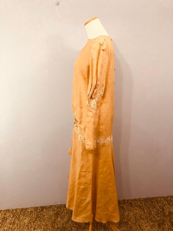 Pink Linen Drop Waist Dress with 20's Flair || Ga… - image 5