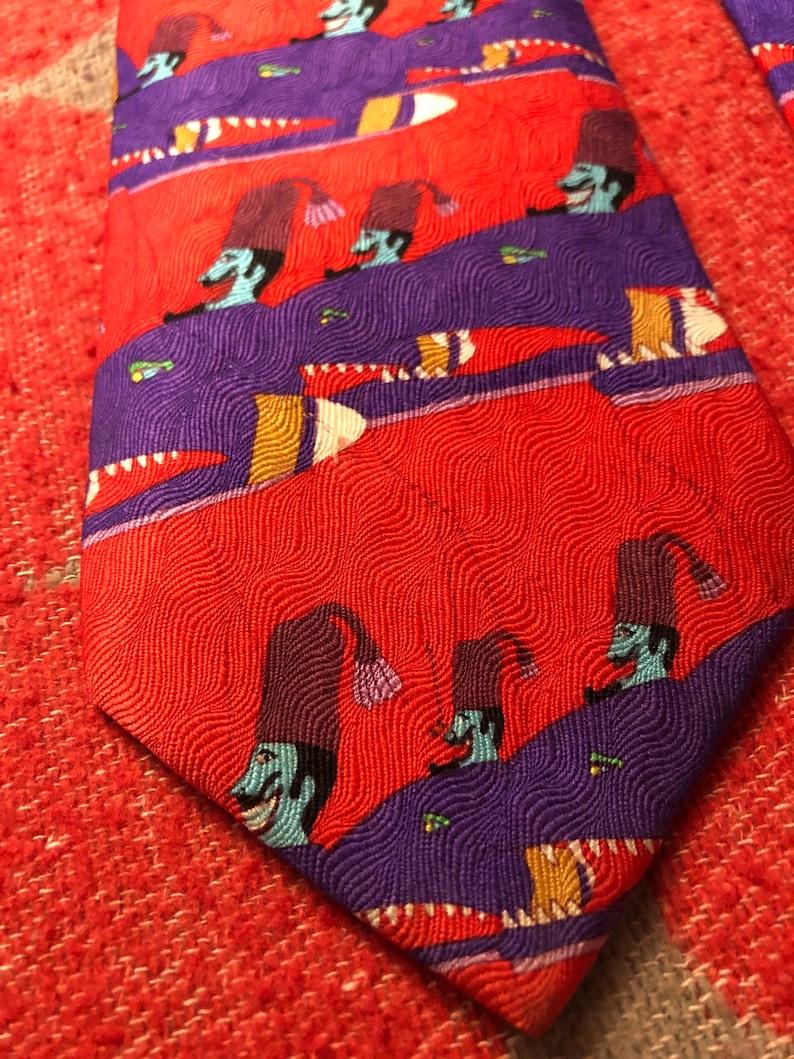 Psychedelic Art Beatles Memorabilia Official Memorabilia Vintage Beatles Yellow Submarine Turtle Turks Silk Tie 1990s