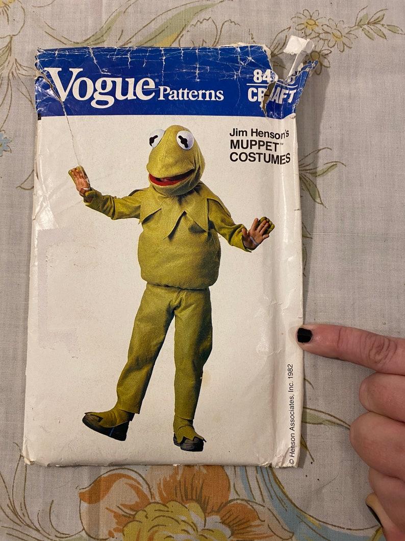   1982 Vogue Patterns Kermit The Frog Costume Licensed Costume DIY Costumes Vintage Muppets Henson Associates Inc