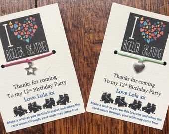 Disco Wish Bracelet Girl//Boy/'s Party Bag Filler on Personalised Thank You Card