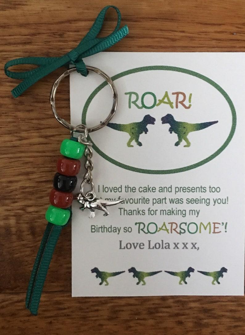 Football Keyring//Bag Charm Boys Party Bag Filler Personalised Thank You Card