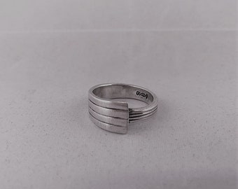 Silver-plated teaspoon ring