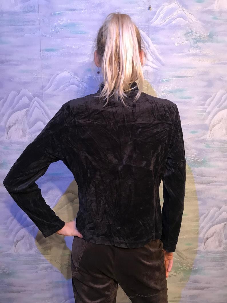 8b026051 Black Tommy Hilfiger Velvet Jacket Women's Small to Medium   Etsy