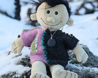 SoBo 50cm, Troll with magic pebble, from the HiddenWorld of Iceland