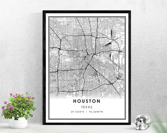 picture about Printable Gold Card Application Harris County identified as Houston map Etsy