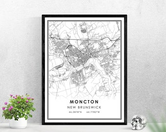New Brunswick Art Poster Belleisle NB Map