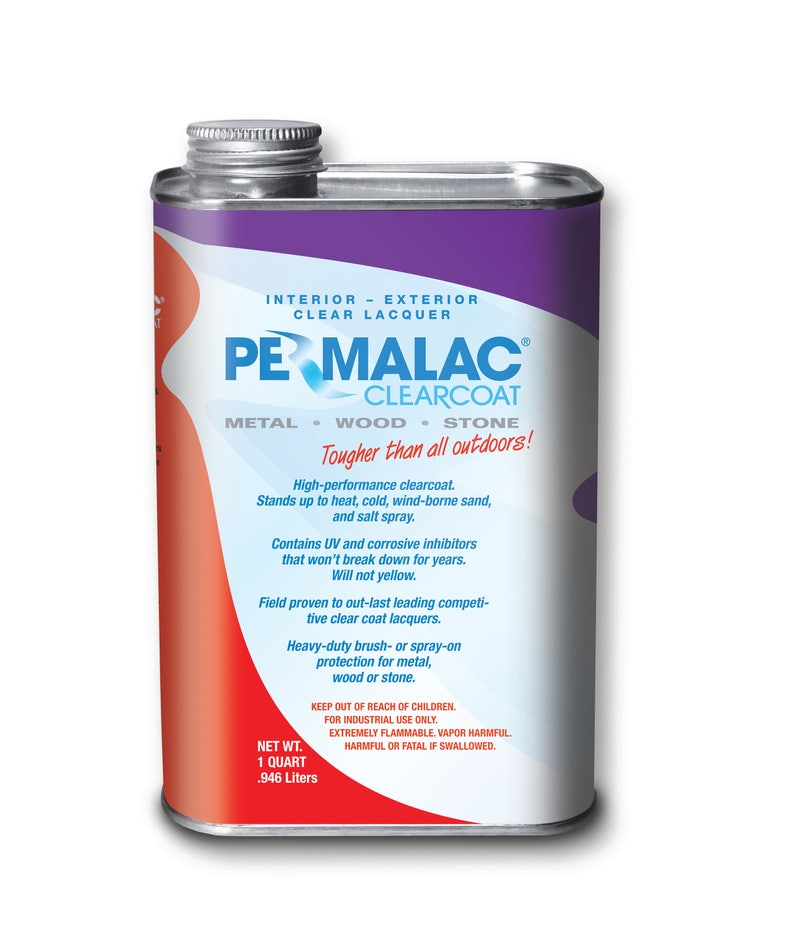 Permalac Original Clearcoat Lacquer for Metals, Wood, and Stone