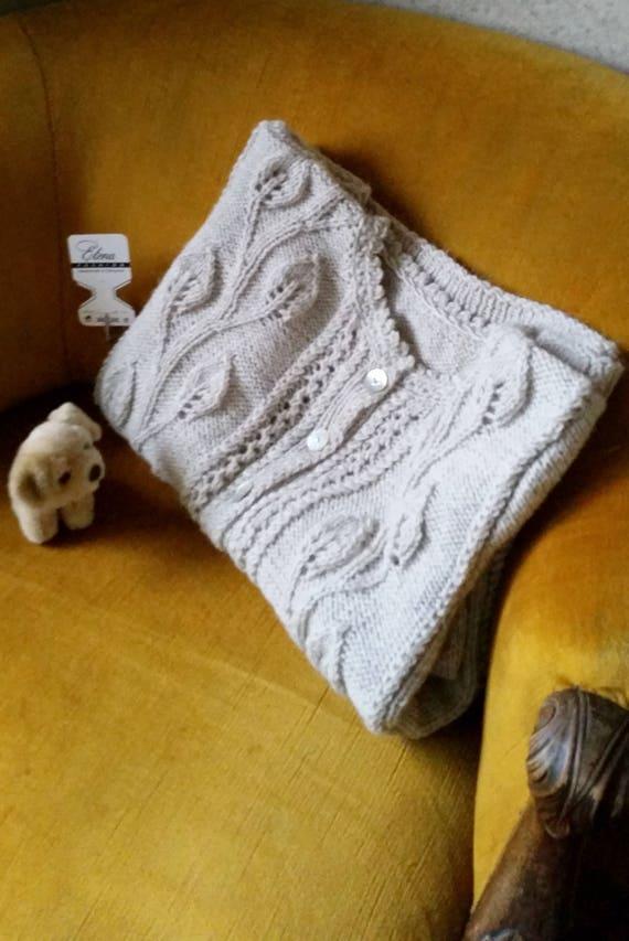 women's Cardigan Women's Handmade FREE size Knit BEIGE Gift light Large Knitted Mom wool Hand sweater Cardigan Cardigan SHIPPING 5wUI0qq