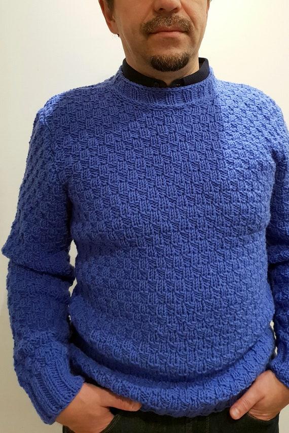 Von Hand gestrickte Herren Pullover Pullover Strick | Etsy