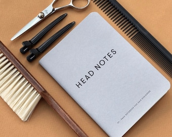 Hairdressing Head Sheets Booklet/ Book For Hairdressers/ Diagramming Booklet / Technical Head Sheet