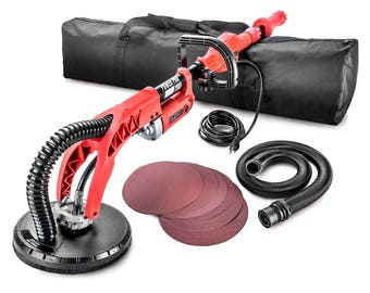 Power Pro 2100 -- Electric Drywall Sander -Extendable- Includes: Carrying Bag, Sanding Paper, Large Handle, More!