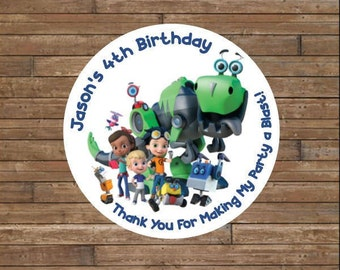 Personalized Rusty Rivets Stickers      Rusty Rivets Stickers     Rusty Rivets Birthday   Rusty Rivets Favor Tags