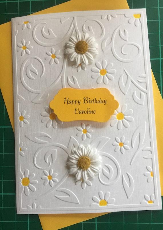 Handmade Personalised Birthday Card For Mum//Nan 30th//40th//50th//60th Sunflower