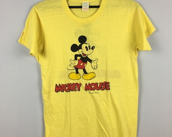 37875b76 Rare Vintage 70s Paperthin Deadstock Mickey Mouse By Walt Disney  Production/Made In USA/Small Size/Tropix Togs