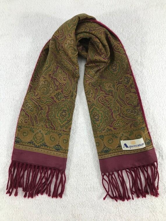 Vintage Aquascutum Scarf Muffler Cashmere Wool Win