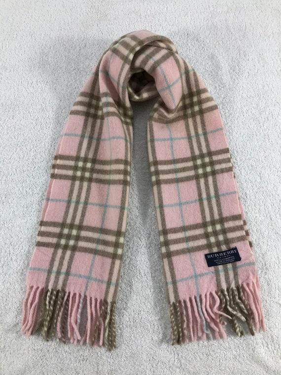 Vintage Burberry Scarf Luxury Accessories Wool Sca