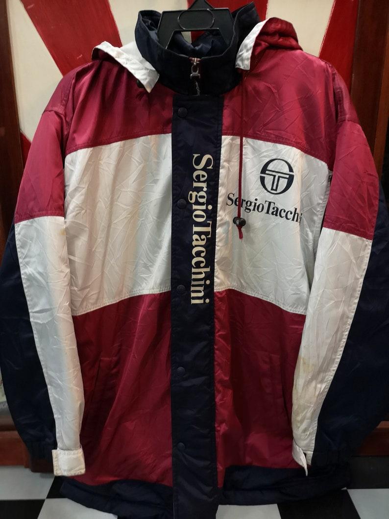 91ac4d7e24 Rare Vintage Sergio Tacchini Jacket Made in Japan Large