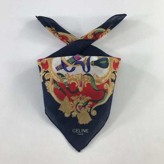 Vintage Celine Handkerchief,Celine Scarves,Celine