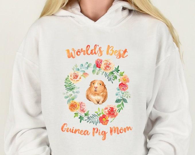 World's Best Guinea Pig Mom Hoodie