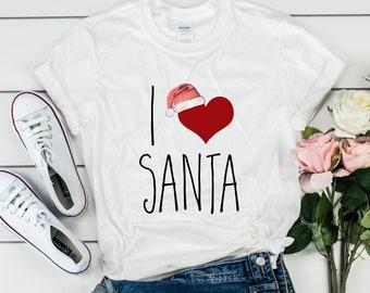I Love Santa Tee, Gildan