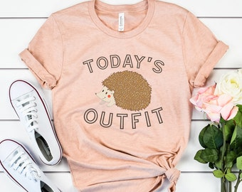 Today's Outfit Cute Hedgehog Tee