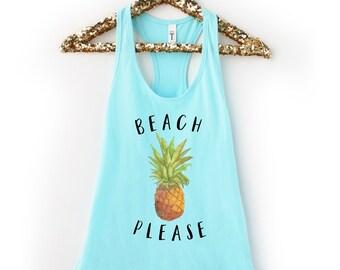 Beach Please Pineapple Tank