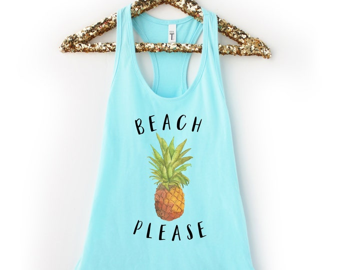 Beach Please Pineapple Tank