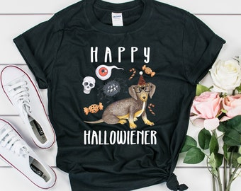 Happy Hallowiener Tee, Gildan 64000