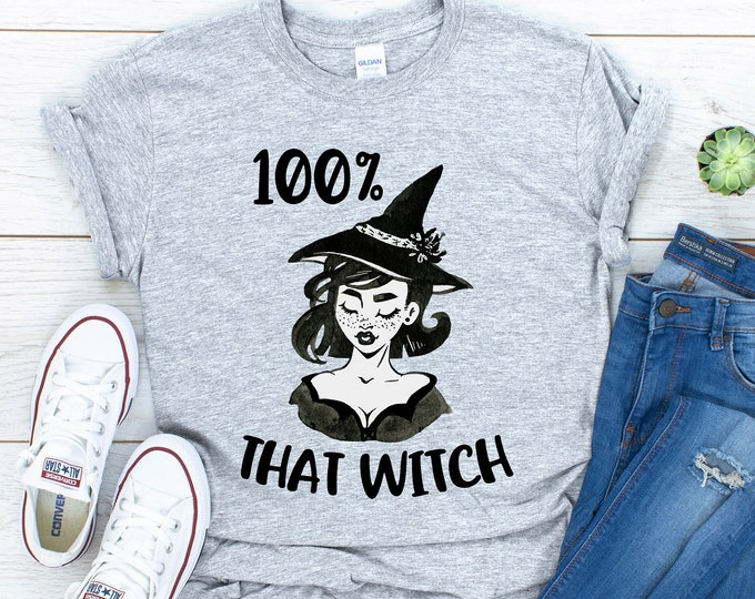 100% That Witch Tee, Gildan