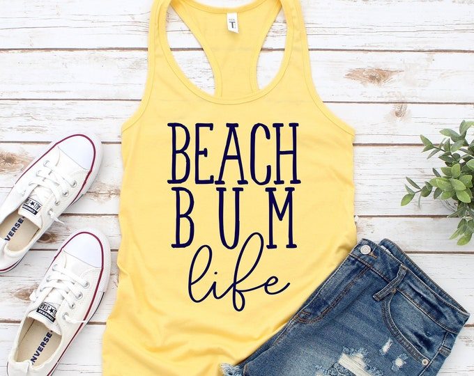 Beach Bum Life Racerback Tank