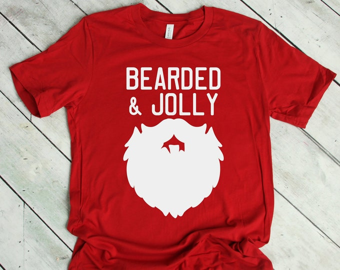Bearded and Jolly Christmas Tee for Him