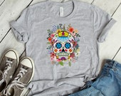 Sugar Skull Day of the Dead Women 39 s T-Shirt, Dia De Los Muertos, Day of the Dead Shirt, Halloween Shirt, Halloween Costume, Skull, Colorful