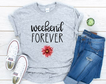 Weekend Forever Tee, Gildan 64000