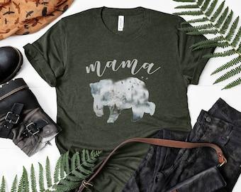 Mama Bear Winter Forest Tee